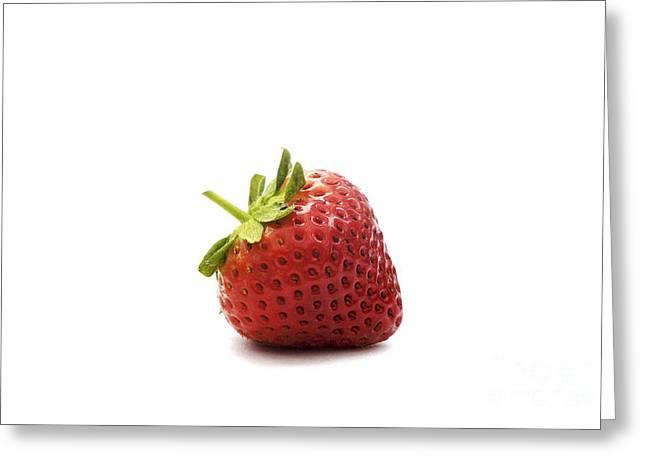 Strawberry II Greeting Card by Natalie Kinnear