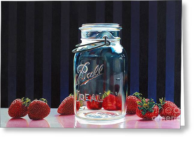 Strawberry Jam Greeting Card by Arlene Steinberg