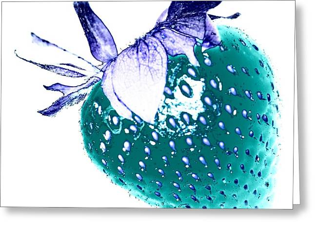 Strawberry Greeting Card by Jenny Hudson