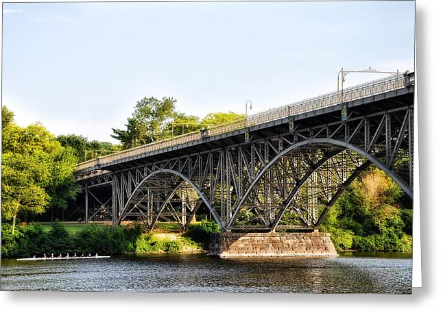 Strawberry Mansion Bridge And The Schuylkill River Greeting Card by Bill Cannon