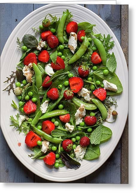 Strawberry Pea Salad Greeting Card