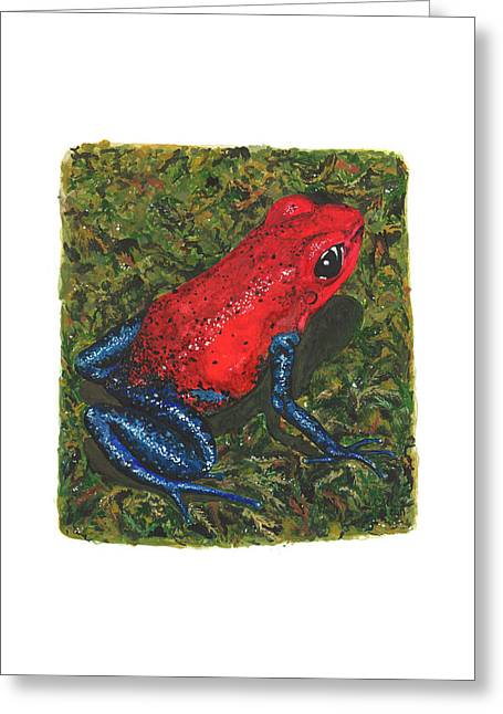 Strawberry Poison Dart Frog Greeting Card