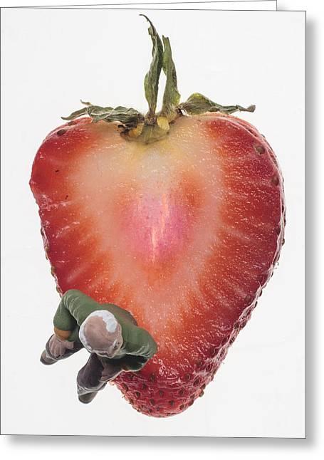 Strawberry Seat Greeting Card