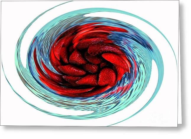 Strawberry Swirl Greeting Card by Kathleen Struckle