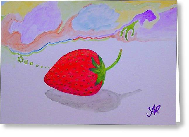 Strawberry Thoughts Greeting Card