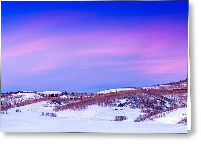 Strawberry Valley Sunset Greeting Card by TL  Mair