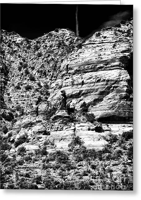 Streak In Sedona Greeting Card by John Rizzuto