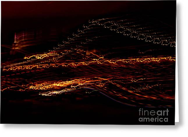 Streaks Across The Bridge Greeting Card