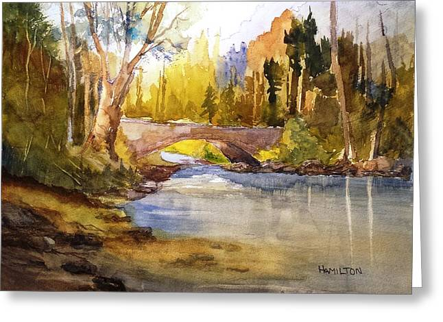 Stream And Bridge Greeting Card