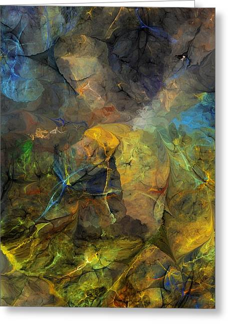 Stream Bed On A Sunny Day Greeting Card by David Lane