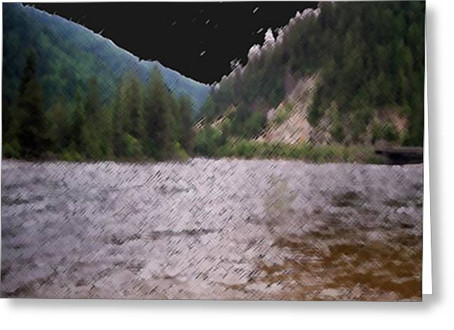 Stream Bridge Greeting Card
