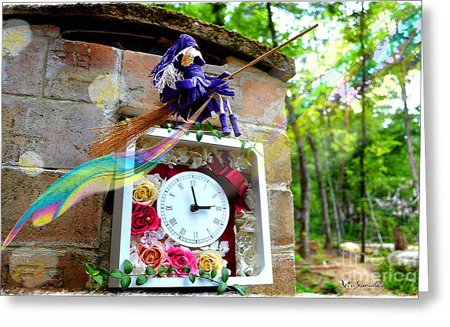 Stream Of Time Hana  Greeting Card by Vin Kitayama