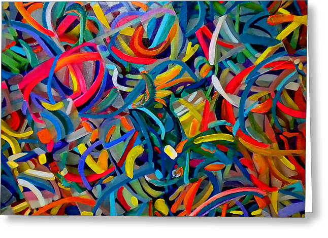 Streamers Of Joy Greeting Card by Michael Durst