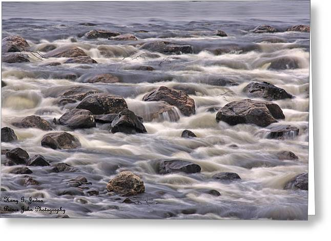 Streaming Rocks Greeting Card