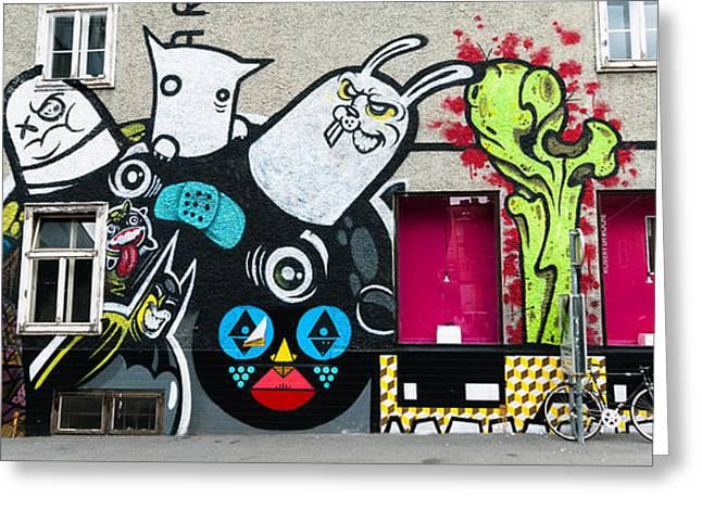 Street Art In Austria  Greeting Card by Pedro Nunez