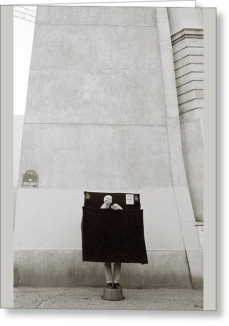 Paris Surrealism Greeting Card by Shaun Higson