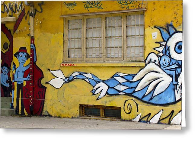 Street Art Valparaiso Chile 12 Greeting Card by Kurt Van Wagner