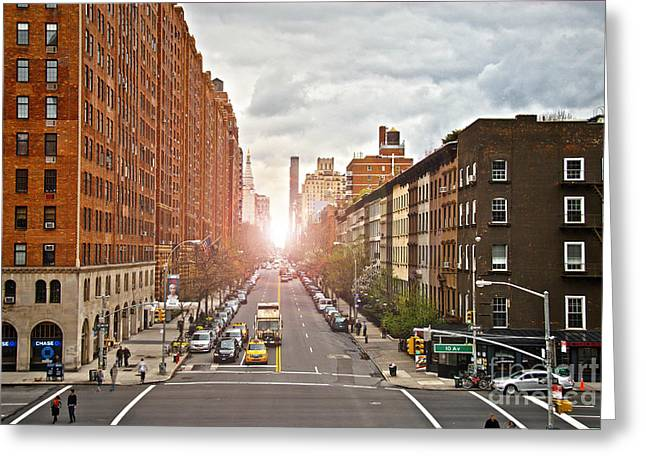 Street As Seen From The High Line Park Greeting Card