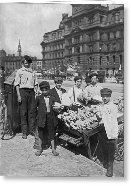 Street Banana Vendor Boys Greeting Card