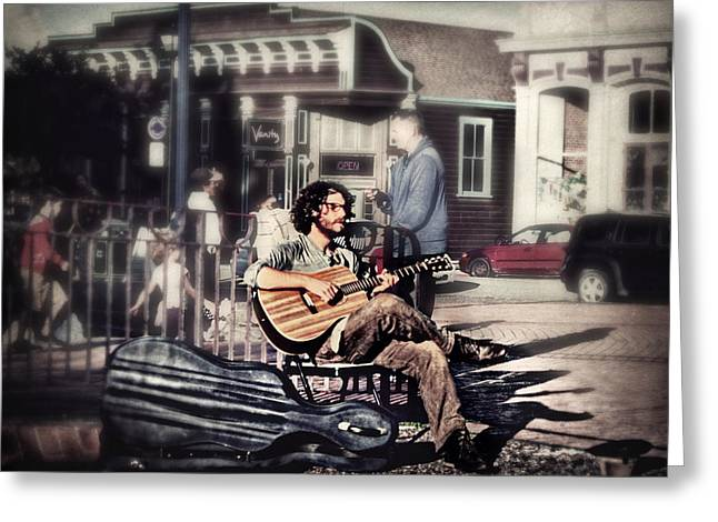Street Beats Greeting Card by Melanie Lankford Photography