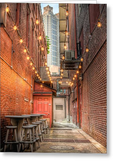 Greeting Card featuring the photograph Street Cafe by Anna Rumiantseva