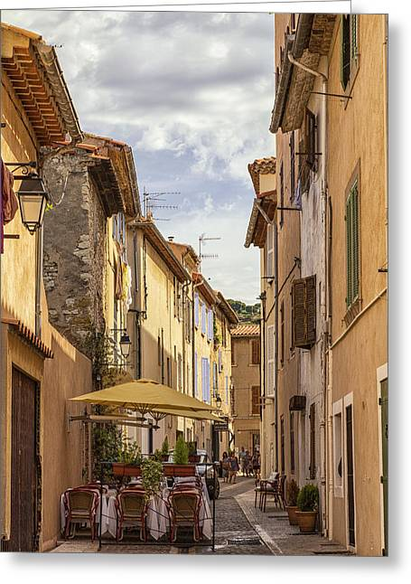 Street Cafe In Cassis Greeting Card