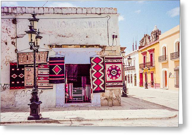 Street Corner In Oaxaca Greeting Card