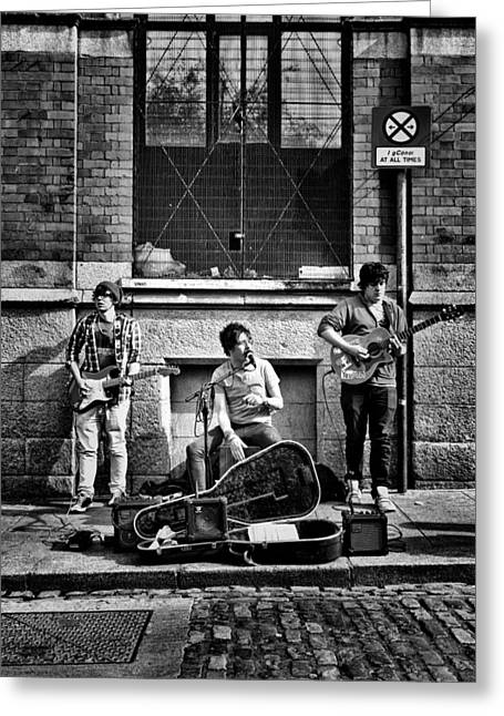 Street Entertainers Greeting Card