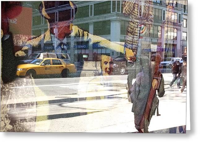 Street Fighting Man Greeting Card by Heidi Horowitz