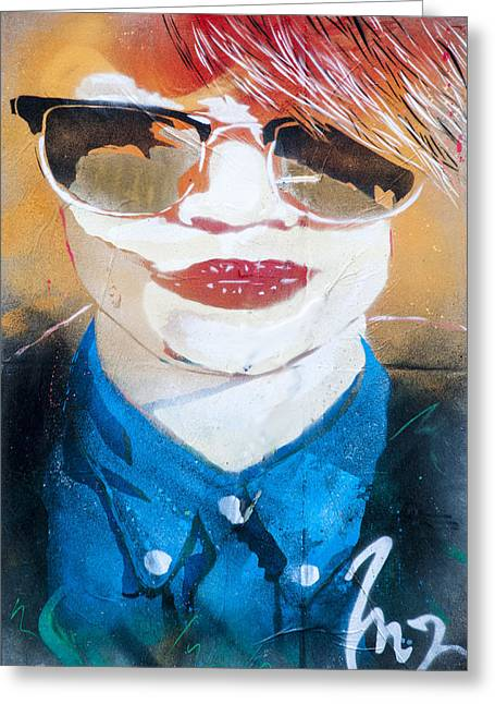 Street Graffiti Art Greeting Card by Rob Hemphill