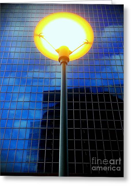 Street Halo Greeting Card by James Aiken