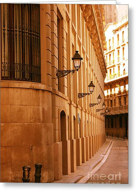 Street In Barcelona Greeting Card by Sophie Vigneault