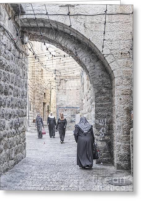 Street In Jerusalem Old Town Israel Greeting Card