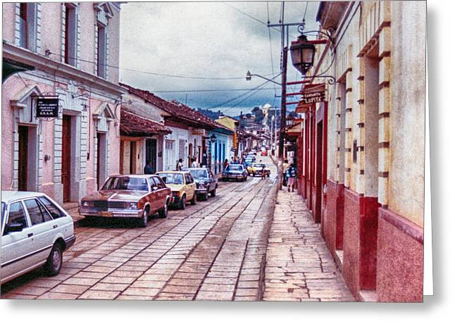 Street In Las Casas Greeting Card