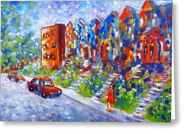 Street In Montreal Greeting Card