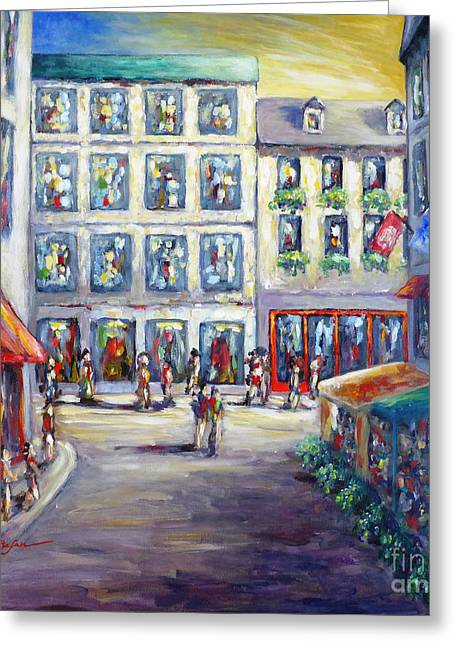 Street In Old Montreal Greeting Card