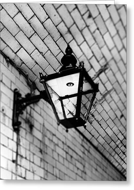 Street Lamp Greeting Card by Mark Rogan
