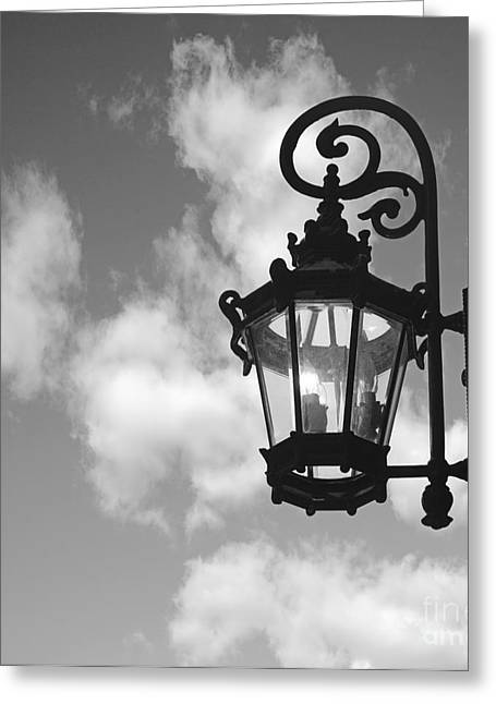 Street Lamp Greeting Card by Tony Cordoza