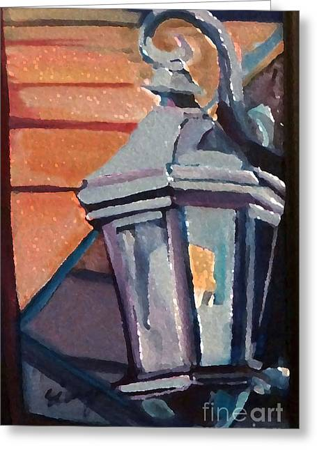 Street Lantern Greeting Card