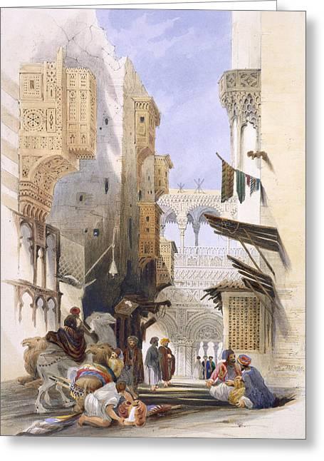 Street Leading To El Azhar, Grand Greeting Card