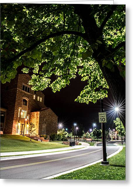 Greeting Card featuring the photograph Street Lights In Slow Ville by Rhys Arithson