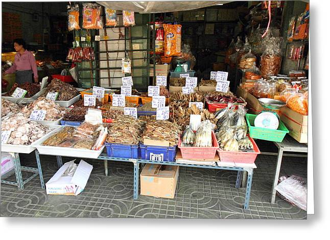 Street Markets - Bangkok Thailand - 01132 Greeting Card