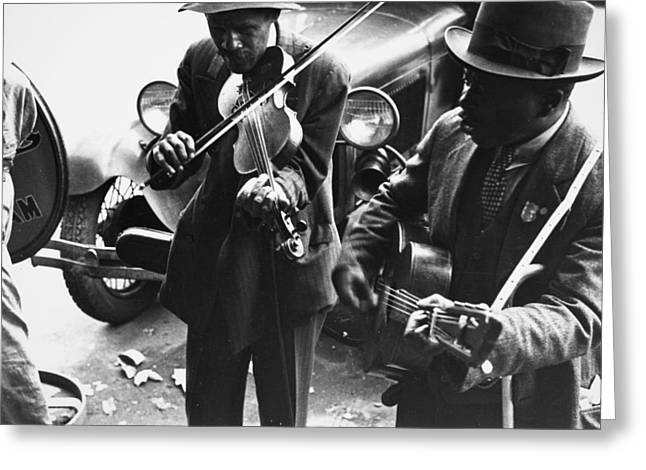 Street Musicians, 1935 Greeting Card by Granger