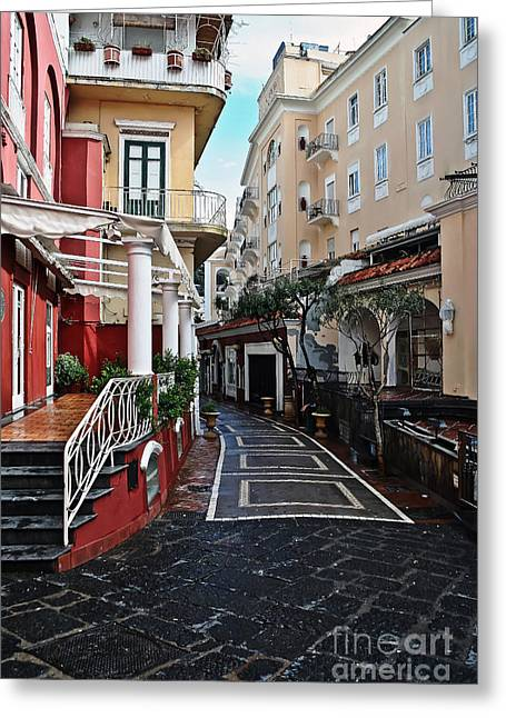 Street Of Capri Greeting Card