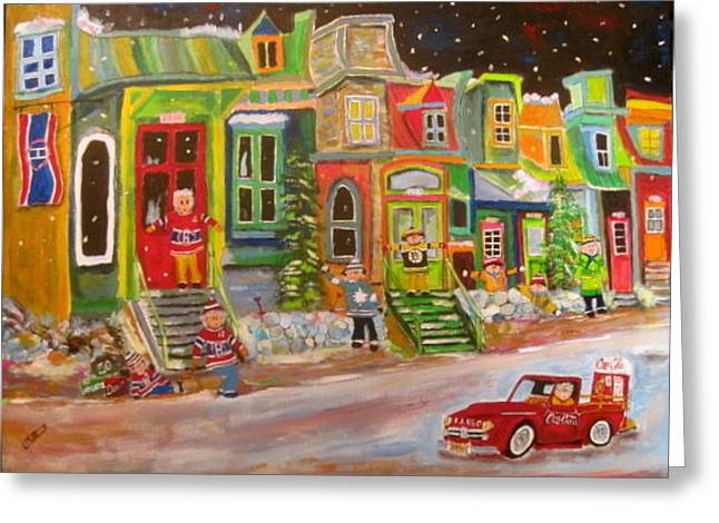 Street Of Icons 2 Greeting Card by Michael Litvack