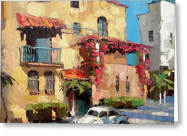 Street Of Playa Del Carmen Greeting Card by Dmitry Spiros