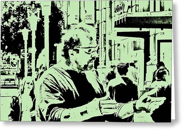 Street Preacher Greeting Card by Joseph Coulombe