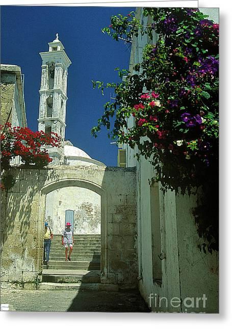 Street-scene In Kyrenia In Northern Cyprus  Greeting Card by Alex Cassels