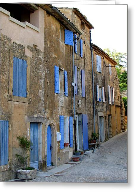 Street Scene In Provence Greeting Card by Carla Parris