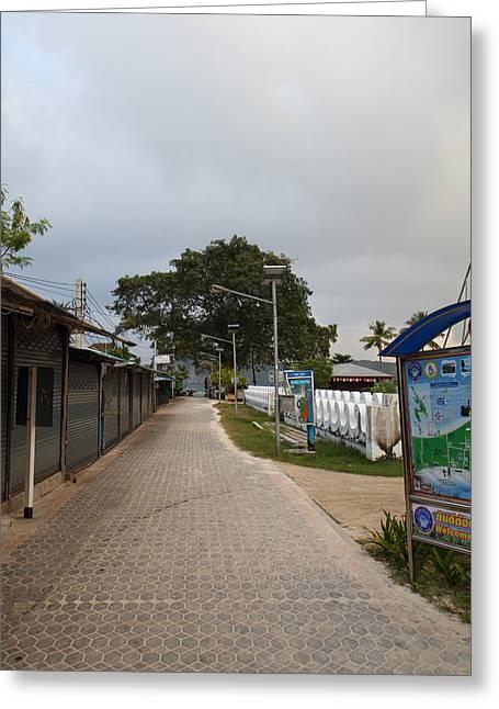 Street Scene - Phi Phi Island - 01132 Greeting Card by DC Photographer